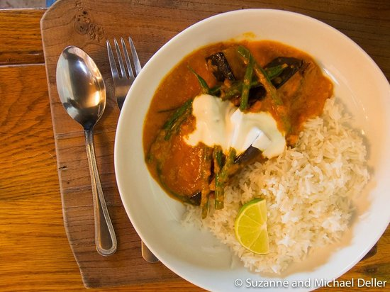 Curry with rice at Pay as you Please