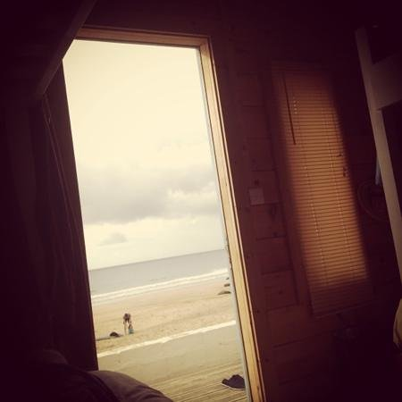 Tolcarne Beach Surf Shacks : photo from my bed!