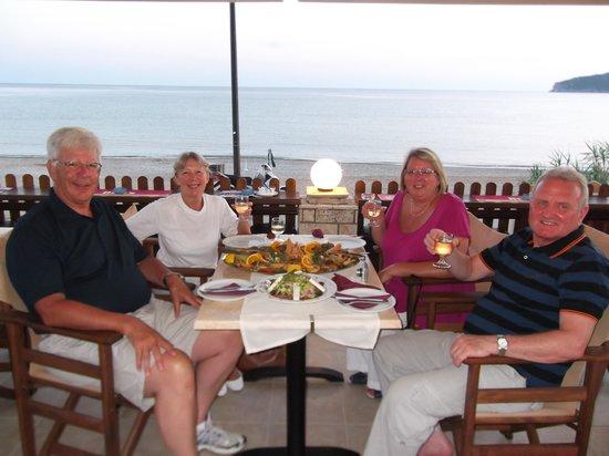 Ammos Seaside in Saint George: Bob, Christine, Jean, Bob