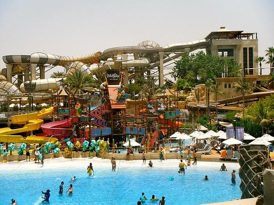 Wild Wadi Water Park: Over looking the kids play area