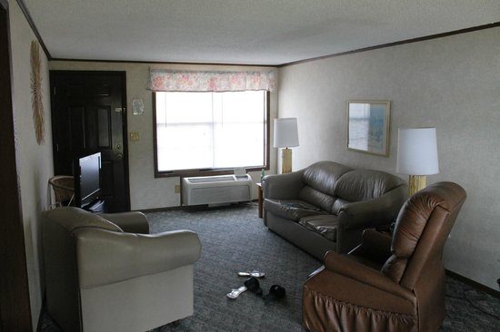 River Wilderness Waterfront Villas, Everglades: Living room area