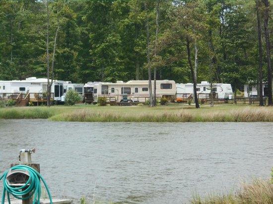 Gwynn's Island RV Resort and Campground: Easy access to the water from right inside the resort