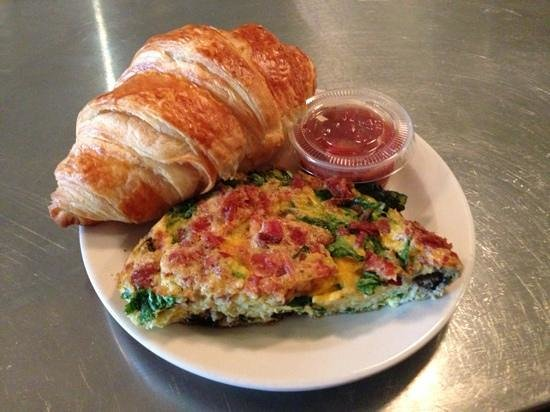 Milo's cafe and inn : the loaded frittata & croissant $5.95