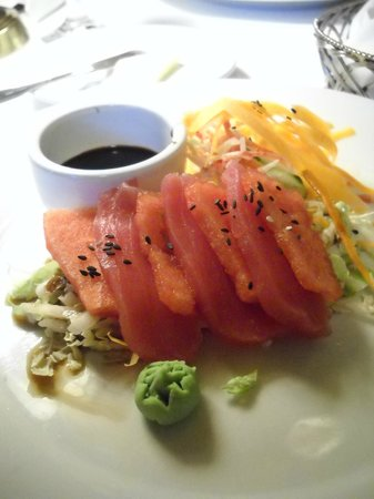 Belfry Bistro: Yellowfin Tuna & Watermelon Sashimi - refreshing and gorgeous!