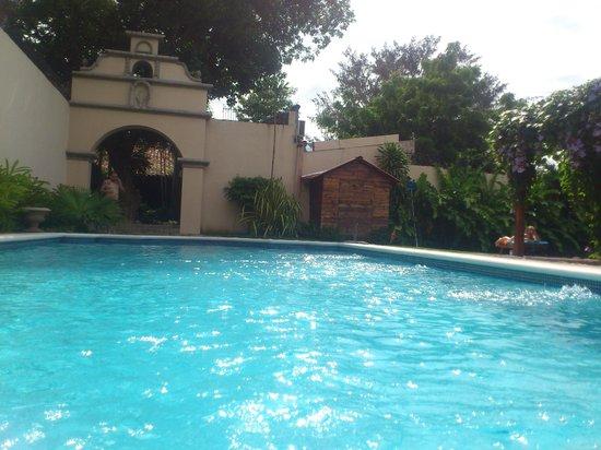 Hotel Los Robles : Su amplia piscina y parte de sus elegantes jardines