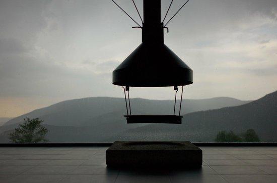 Hotel Piornedo: De lounge met een prachtig uitzicht op de omgeving, zelfs als het regent