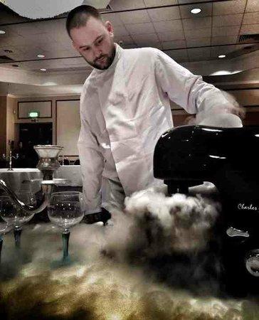 The Garden Room Restaurant: Gin & Tonic Sorbet in the making