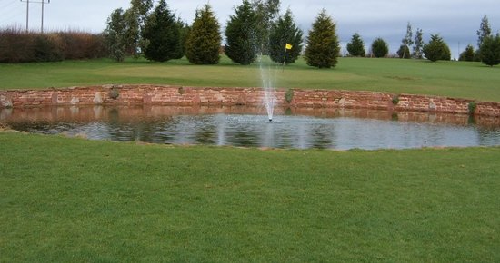 Newent Golf Club and Lodges: Pond on Golf Course