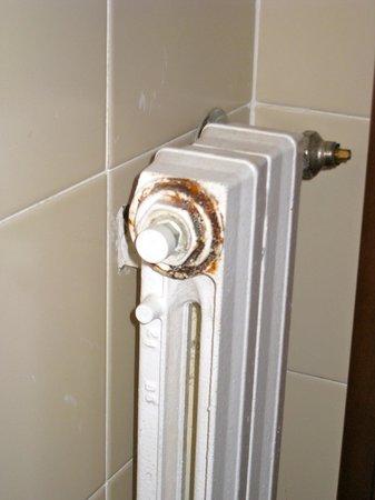 Hotel Internazionale: Radiatore bagno