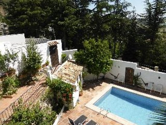 La Mejorana: pool viewed from patio