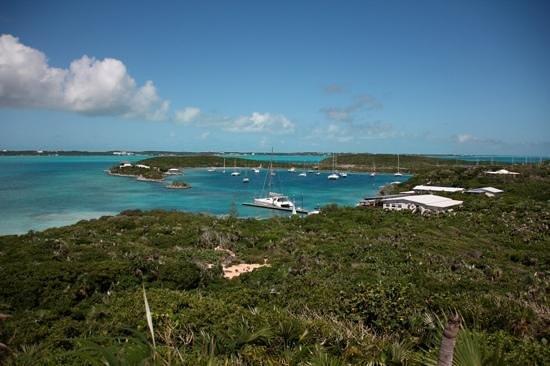 St Francis Resort: Blick vom Hügel auf das Resort