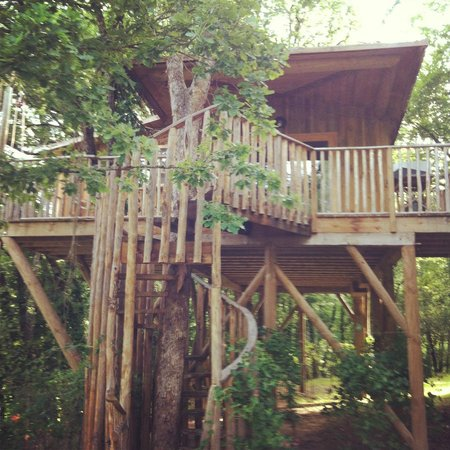 treehouse picture of les cabanes de jeanne saint amand de coly tripadvisor. Black Bedroom Furniture Sets. Home Design Ideas