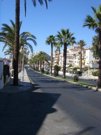 Las Arenas Hotel: road view