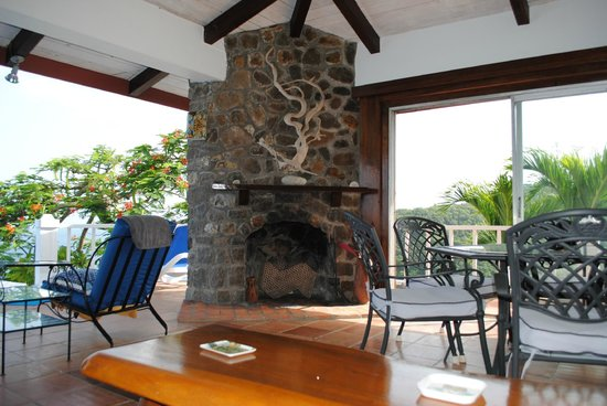 Oasis Marigot: View From the Living Room at The Emerald Hills Villa on Marigot Bay