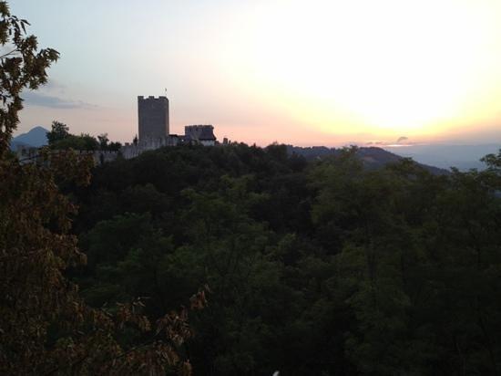 Gostilna Pri Kmetec : The view from the terrace of Stari Grad at sunset.