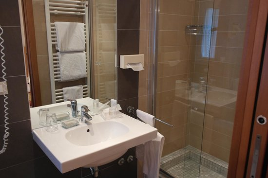 Hotel Accademia: Bathroom and shower