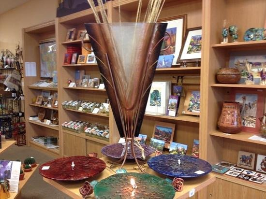Sibley's West: The Chandler and Arizona Gift Shop: glass vase and oil lamps
