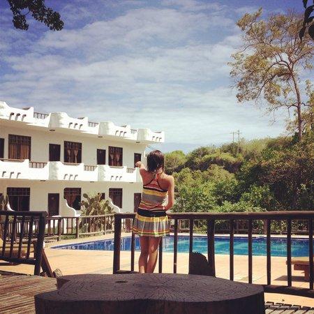 Hotel Fiesta: Vista desde el balcón