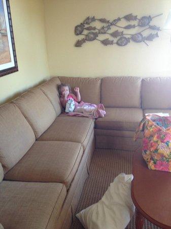 Schooner II Beach/Racquet Club: plastic feeling couch