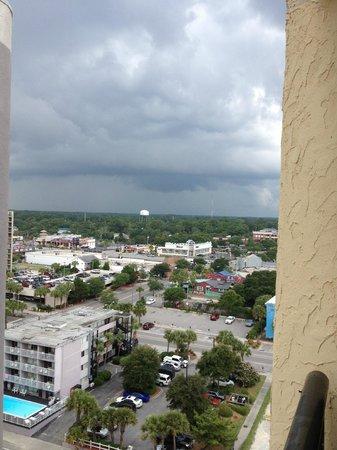 Schooner II Beach/Racquet Club: city view from 13th floor balcony