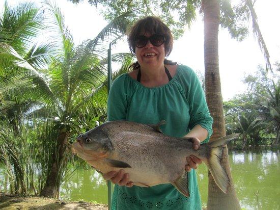 Hua Hin Fishing Lodge: I caught a Pacu