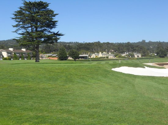 The Tap Room: Looking toward the 18th hole at Pebble Beach.
