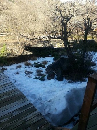 Cabanas Las Cabras: Entrada do restaurante no inverno
