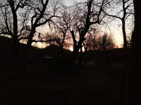 Cabanas Las Cabras: Por do sol na cabana
