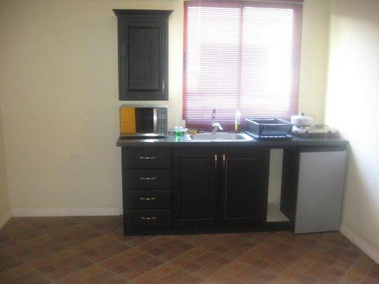 Oasis Guesthouse: mini kitchenette- upstairs studio
