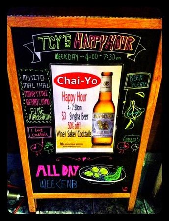 Thai Chai-Yo: happy hour!