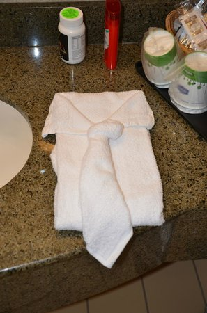 Hampton Inn & Suites Camarillo: New towel creations every day...just like on a cruise ship.