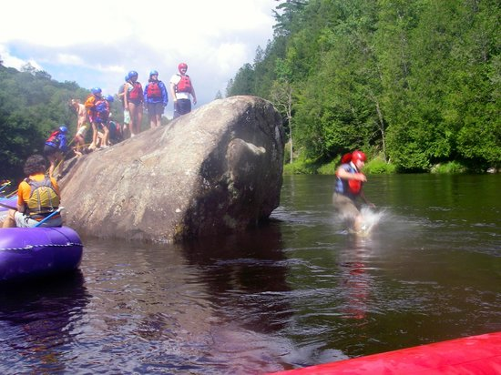 North Creek Rafting Company Day Trips: Last one in is a.........