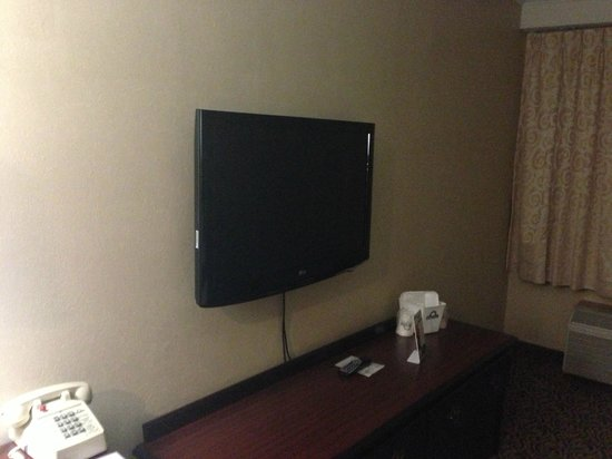 Days Inn Detroit Metropolitan Airport: Decent flatscreen TV hung on wall.