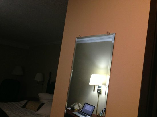 Days Inn & Suites Detroit Metro Airport Romulus: Oddly hung mirror. But it worked.