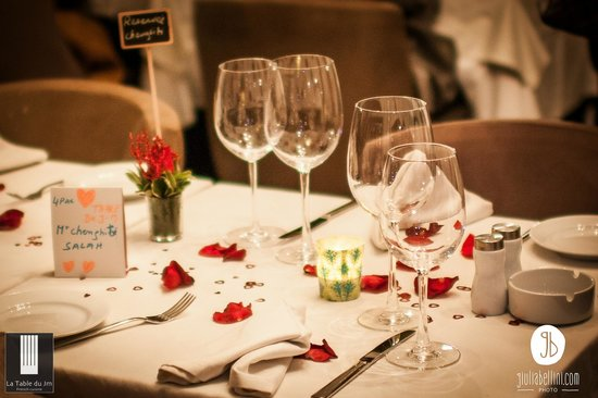 restaurant la table du jm- romantic dinner set up - picture of jm