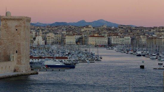 Vue du vieux port depuis les jardins du pharo picture of for Au jardin du port le palais