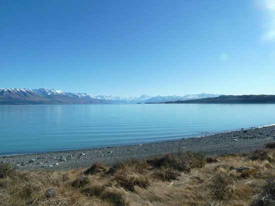 Canterbury Region, New Zealand: Lake Pukaki: late July 2013. What a morning view...
