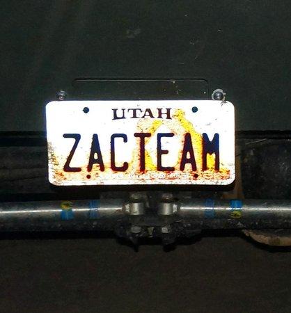 Zion Adventure Company : The plate tells all