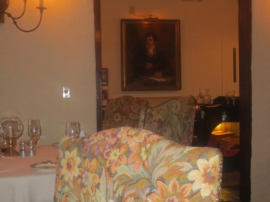 Tom Moore's Tavern: Om Moore's portrait as seen from our dining room