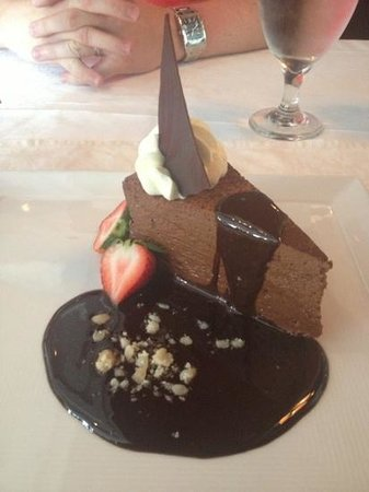 Grill 225: The best chocolate mousse cake I've ever ate!!!