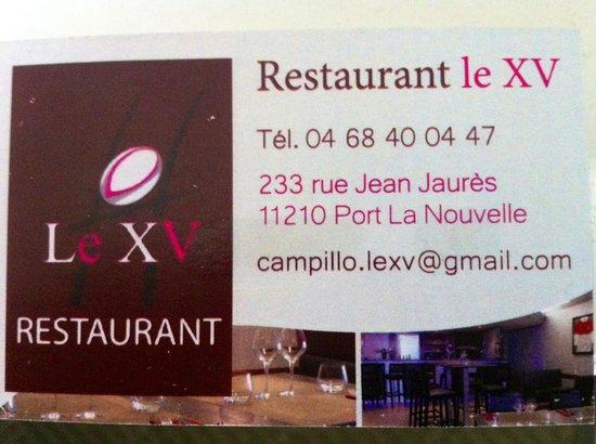 restaurant le xv port la nouvelle restaurant avis num 233 ro de t 233 l 233 phone photos tripadvisor