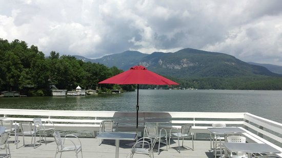 The Lodge on Lake Lure: View from the roof of the boathouse