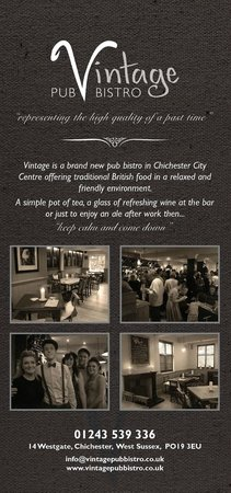 The Nags Head: Our new sister restaurant www.vintagepubbistro.co.uk