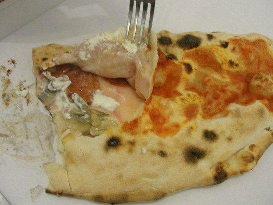 Trattoria Olimpia: Calzone with ham (prosciutto cotto, mushroom, salami