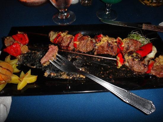 Perla Del Mar: Beef Brouchette