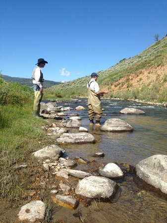 Nine Quarter Circle Ranch: Fly fishing on Taylor Creek