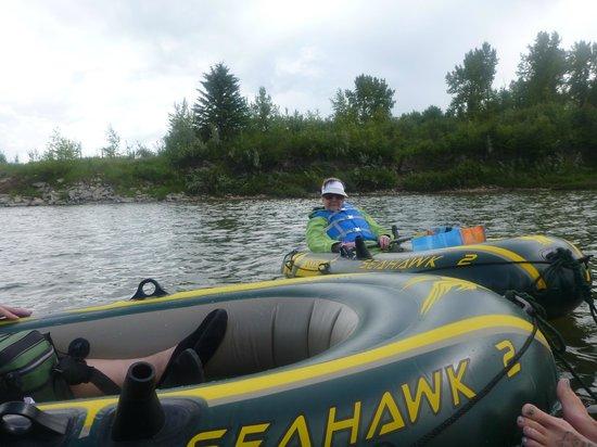 Fort Normandeau: 2) afloat on the Red Deer River  d;o)