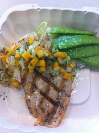 Irie's Island Food: grouper with mango pico
