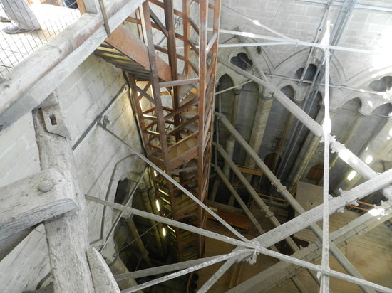 Wooden spiral staircase picture of salisbury cathedral salisbury