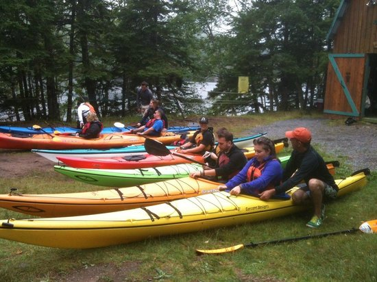 North River Kayak: Getting some practice on land!